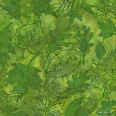 Island Batik Hand Printed Cotton - Amazon Jungle SP27-D2