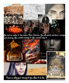 """An Ember in the Ashes (book)"" by hangar-knjiga ❤ liked on Polyvore featuring art, book, books and sabaatahir"