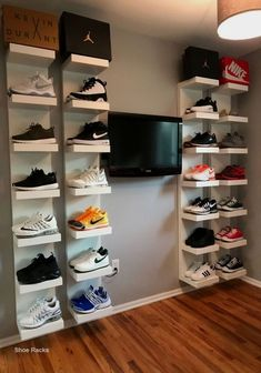 Shoe Rack and Shoe… Bedroom Setup, Room Ideas Bedroom, Nursery Room, Nursery Furniture, Ikea Boys Bedroom, Young Mans Bedroom, Gamer Bedroom, Boys Bedroom Paint, Boy Bedrooms