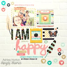Create a positive, uplifting, and inspiring layout, card, tag or anything else you think of with the I AM Collection Chipboard Stickers by Simple Stories. Simple Stories, Scrapbook Page Layouts, Scrapbook Cards, Scrapbooking Ideas, Picture Layouts, Studio Calico, Layout Inspiration, I Am Happy, Paper Crafts