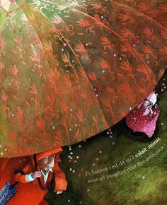 Red Passion by Rebecca Dautremer Fantasy Paintings, Fantasy Art, Parasols, Lowbrow Art, Children's Book Illustration, Illustrations And Posters, Figure Painting, Creative Art, Fine Art