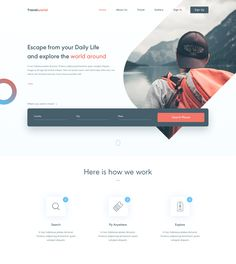 Dribbble - travel_world_web_concept.png by Aby Abraham Travel Website Design, Website Design Layout, Layout Design, Travel Design, Web Design Projects, Web Design Tutorials, World Web, Ui Patterns, Web Ui Design