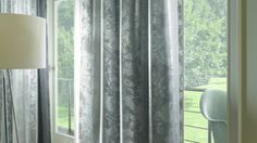 Laced sheer S-Fold curtains bring interesting detail to a neutral colour scheme. Neutral Color Scheme, Color Schemes, Drapery, Curtains, Boutique Interior, Window Treatments, Room Decor, Windows, Elegant