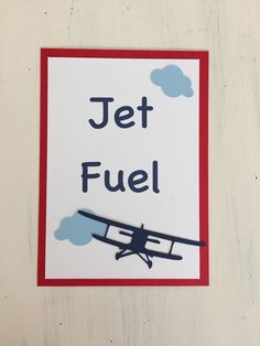 Jet Fuel Sign Vintage Airplane Party Decorations by HandmadeByVee Vintage Airplane Party, Vintage Airplanes, Baby Shower Themes, Baby Boy Shower, Baby Showers, Shower Ideas, 2nd Birthday Boys, Birthday Ideas, Birthday Parties