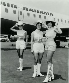 Air Bahamas Stewardesses Love the golden days of flying!!!