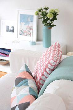 Pastels - soft furnishings - cushions