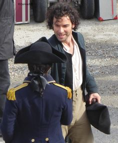 Well as it's wine time it must surely be #Poldark time...right? Just a few pics from filming.  Ross meets Capt Blamey