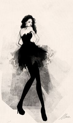 Party Dress, fashion sketch by ~claramcallister