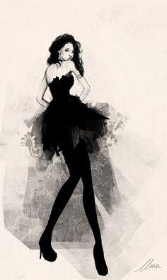 Fashion Sketch by ~claramcallister
