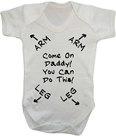 Come On Daddy You Can Do this - New Dad - baby grow vest bodysuit onesie - 3 months) Dad Baby, Baby Love, Baby Kids, New Dad Survival Kit, New Daddy Gifts, Dad Gifts, Diaper Parties, Shower Bebe, Man Shower