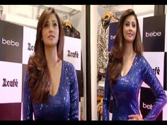 Daisy Shah looking stunning in a very tight deep neck one piece dress.