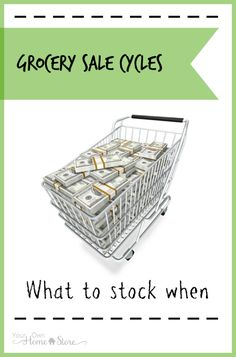 Grocery sales tend to happen in cycles. Use this guide to know what you should focus on stocking up on each month during the year.
