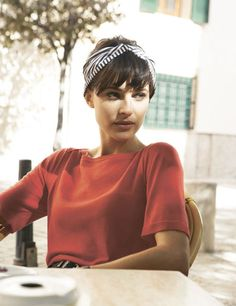 hair accessory: the headscarf. looks great with heavy fringe and works on short or long pinned up hair.