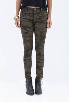 Camo Skinny Jeans | FOREVER21 - 2000059438