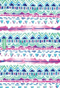 Dash Aztec by Barbra Ignatiev #wallpaper #tribal #watercolor