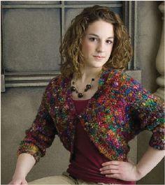 Sari Silk Bolero pattern in Positively Crochet! (50 trendy patterns in 1 book)