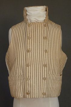 Man's waistcoat, wool, c. Western Vest, Men's Waistcoat, European Dress, Clothes Pegs, 19th Century Fashion, Period Outfit, Shakespeare, Men's Clothing, Double Breasted