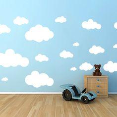 Adesivo Decorativos Nuvens - Mode Deco   Nossos Adesivos Decorativos são uma opção rápida e com um ótimo custo-benefício para quem quer dar um upgrade na decoração de qualquer ambiente.  decoração, diy, decor, ideias, home office, escritorio, quarto, quarto de casal, quarto infantil, adesivos, adesivos decorativos, parede, decorando, decorando facil, fashion,  papel de parede, sala, sala de estar, quarto de menina, quarto de menino