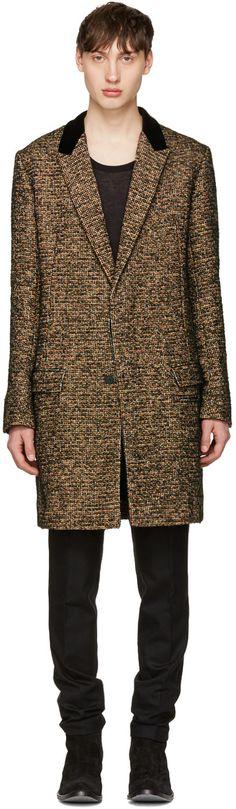 1665€ Haider Ackermann - Manteau à col en velours multicolore