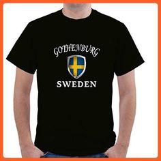 SWEDEN GOTHENBURG Unisex Short Sleeve T Shirt - Cities countries flags shirts (*Partner-Link)