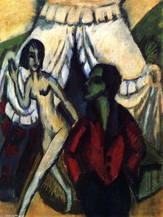 The Tent, Oil On Canvas by Ernst Ludwig Kirchner (1880-1938, Germany)