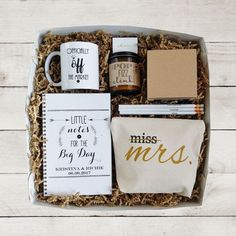 Future Mrs Gift Box Bride to Be Gift. Super cute idea!