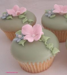 poured fondant cupcakes...     Cupcakes are my weakness... but now, I only cook them. I may enjoy one here & there, but that's it.