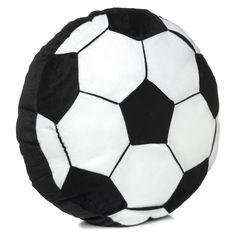 Buy Living Football Cushion Black White At Argos Co Uk