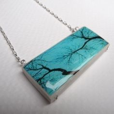 Enchanted. A Photographic Art Necklace-Sterling Silver