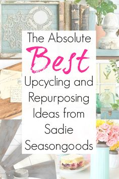 """If you need inspiration for easy upcycling ideas and repurposing craft projects, then Sadie Seasongoods is the blog for you! Focusing on thrift store """"smalls"""", each of her upcycling projects is approachable for beginner and intermediate crafters alike. AND she has her first book coming out, which focuses on upcycled flannel shirts! #sadieseasongoods #thriftstoredecor #thriftstoreideas #thriftstorecrafts #upcycledclothing #upcyclingideas Thrift Store Shopping, Thrift Store Crafts, Shopping Sites, Diy Furniture Projects, Craft Projects, Project Ideas, Funky Junk, Vintage Decor, Upcycling Ideas"""