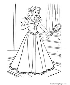 Princess coloring pictures 28