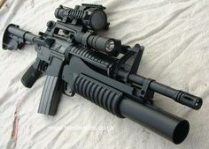M4, with grenade launcher...I want to pass out this is so freaking awesome.
