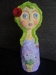 Flora - Paper mache doll