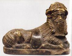 A divine bullman associated with the sun god. Circa 2500 B.C Sumeria