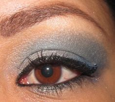 Beautiful blue holiday look by another friend :)