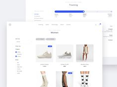 Product Category & Order Tracking designed by Michele Zamparo for Bemind Interactive. Connect with them on Dribbble; Ecommerce Web Design, Ecommerce Shop, Web Ui Design, Web Design Services, Page Design, Design Ideas, Fashion Web Design, Web Dashboard, Filter Design