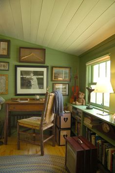Historic House farmhouse home office - translates easily to a Falls Church cape cod, or an Arlington Colonial.