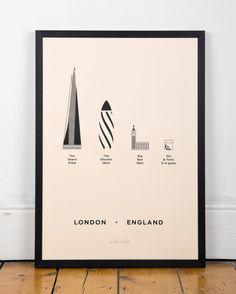 Wereldberoemde gebouwen en drankjes voor aan de muur   | roomed.nl