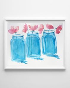 mason jar watercolor art