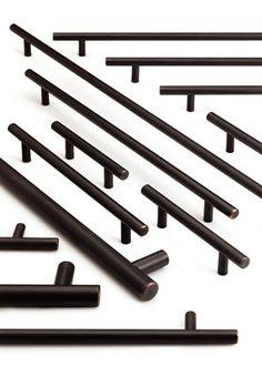modern black cabinet pull. black cabinet hardware. | jane nyc