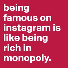 Be famous on #instagram
