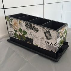 porta controle papel vintage Shabby Chic Kitchen Accessories, Remote Holder, Decoupage Box, Carton Box, Tea Box, Diy Projects To Try, Papel Vintage, Decorative Boxes, Create
