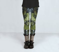 Pine Tree Leggings Nature Leggings Yoga by GriffingPhotography