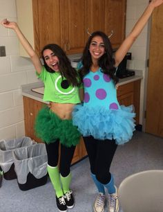 mike and sully costume diy - Cute Bff Halloween Costumes