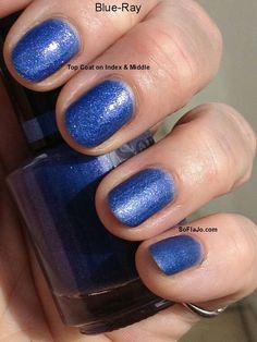 Shimmering blue nails for Hanukkah