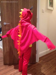World Book Day Boys Costume – ZOG the dragon cape – Julia Donaldson book. Made out of a blanket.