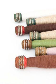 Wooden Textile Spools