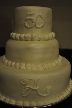 """Happy 50th anniversary Beautiful for Mom and Dad   - love the idea of a monogram """"G""""  :)"""