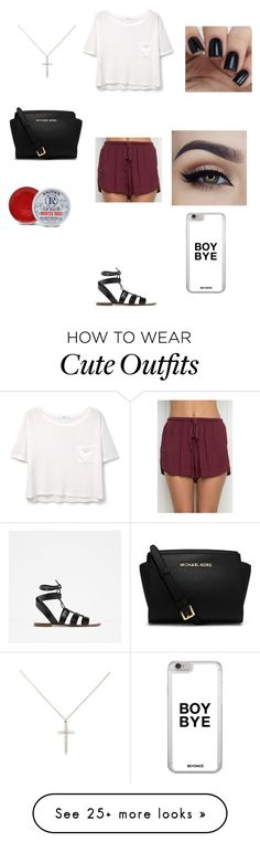 """""""Cute summer outfits"""" by princessrena on Polyvore featuring Zara, MANGO, Michael Kors, Forever 21 and Rosebud Perfume Co."""