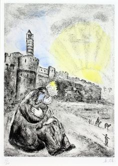 Marc Chagall, David Weeps for Absalom | by Haggerty Museum #jewish #arts #artist #artworks #marc-Chagall #marcchagall #chagall